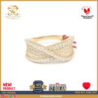 cincin emas putih wanita perhiasan emas asli kadar 375 CMM268 R13