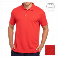 COUNTRY FIESTA Polo Shirt Kaos Kerah Wangki Pria Warna Merah Original