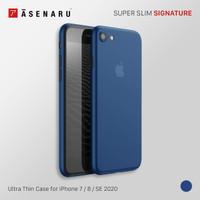 Asenaru iPhone 7/8/SE 2020 Case Super Slim Signature Casing Navy Blue