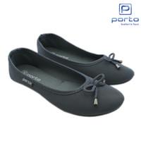 Sepatu Wanita Kain Flat Shoes Balet Korea Grey Porto Original-BA202L