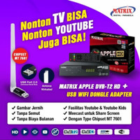 Set top box DVBT2 Matrix Apple HD TV Digital DVB T2 - Bisa Youtube