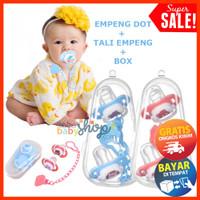 Empeng Dot Bayi Set + Rantai Tali + Box Paket Gigitan Bayi COD