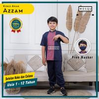 Baju Koko Anak Setelan Baju Koko Celana Jogger Azzam Umur 1-12 Tahun
