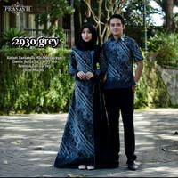 gamis couple kemeja batik/sarimbit mat katun kode 2930