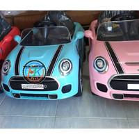 Mobil aki anak Mini Cooper Yukita DLS-06 Ban Karet Jok Kulit MOTOKIDS