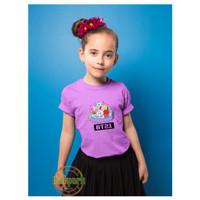 Baju Anak Perempuan / Baju BT21 / Kaos BTS Anak / Kaos BT21 - Lilac, L