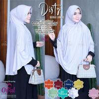 jilbab instan disty bergo jumbo mat jersey super ori oval hijab