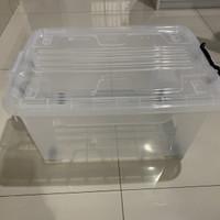 Storage Box Ezy CB 45 Liter Roda Bening Tebal Kotak Container Perkakas
