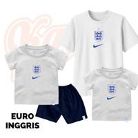 Setelan Baju Kaos Sepak Bola Euro Timnas Inggris Bayi Sampai Remaja