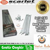 Jari jari motor bukan TDR ring 17 sd 21 KLX - Scarlet Hitam Stainless