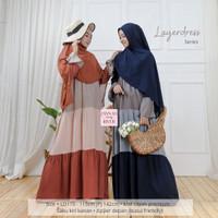 Baju Gamis Muslimah Hamil Menyusui Layerdress Rayon Premium Jumbo