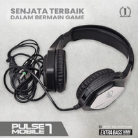 headset gaming armaggeddon pulse 7 headphones exstra bass with mic