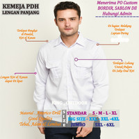 Baju Formal PNS - Kemeja Dinas PNS - Seragam Kerja Lengan Panjang