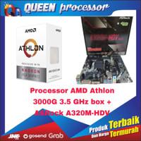 Processor AMD Athlon 3000G 3.5 Ghz BOX + ASRock A320M - HDV AM4,AMD