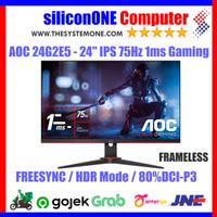 "AOC 24G2E5 - 24"" IPS 75Hz 1ms Gaming Monitor 23.8"" Freesync DP HDMI"