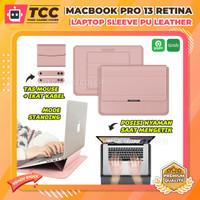 MacBook Pro 13 Retina 2017 2018 Sarung Casing Stand Sleeve Case Laptop - Hitam