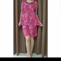Baju Tidur Batik Anita Baby Doll Celana Pendek Size M Tanpa Lengan