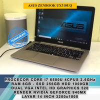 ASUS ZENBOOK UX310UQ RENDER NVIDIA GEFORCE CORE I7 6500U LAPTOP GAMING