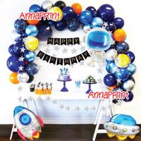 Balon Set Paket Dekorasi Ulang Tahun Astronot Astronaut JUMBO