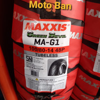 BAN MOTOR MATIC - MAXXIS GREEN DEVIL MA-G1. 100/80-R14 TUBELESS.