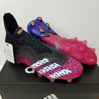 Sepatu Bola Soccer Adidas Predator Freak + Black Shock Pink Purple FG