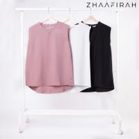 Baju Inner Wanita Tanpa Lengan Sleevelees by.ZHAAFIRAH Putih/Hitam