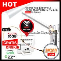 Paket Antena Yagi Extreme 3 + Home Router Huawei B312 Orbit Star Modem