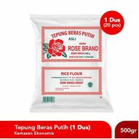 Tepung Beras Rose Brand 1 Dus 500gr