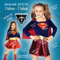 Kostum Costume Baju Supergirl Super girl Anak cewe ultah superhero