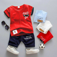 Wirles Setelan Baby Jenius Baju Anak Laki-laki Usia 1-5 Tahun