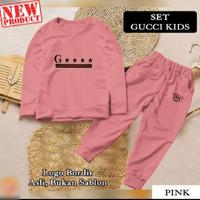 Baju Setelan Pakaian Olahraga Anak Perempuan GCI KIDS 20838 Termurah - pink, S