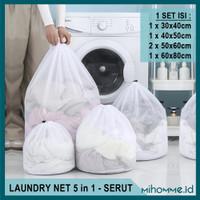 Laundry Net Serut Washing Bag Kantong Jaring Pakaian Bra Mesin Cuci