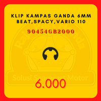 Klip Kampas Ganda Circlip 6mm–BeAT,Spacy,Vario 110 eSP,Scoopy FI