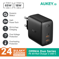Aukey Charger PA-B4 Omnia Duo 65W Dual-Port Power Delivery- 500485