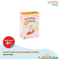 Yummy Bites Rice Crackers Carrot 25gr