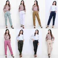 Baggy Pants Premium Celana Polos Panjang Wanita (Kerja Kuliah Hangout)