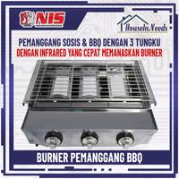 Pangangan Sosis 3 Tungku NIS / Gas Roaster Griller