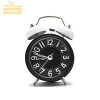 Jam Beker Kring Besi / Jam Weker / Jam Alarm / Jam Meja / Alarm Clock - Putih
