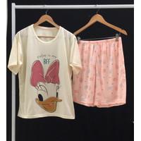 Setelan Baju Tidur Santai Anak Perempuan Hotpants Daisy BFF 7-11 Thn