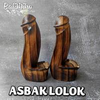 Asbak Lolok Bali 20 Cm/Asbak unik/Asbak Kayu/Asbak lolok