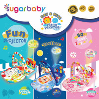 Sugar Baby Piano Playmat Day & Night Nite with Fun Projector