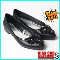 Sara Sara Cantika Jelly Shoes / Flat Shoes / Sepatu Jelly Wanita - Hitam, 36