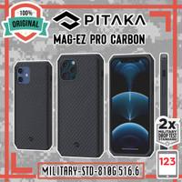 Case iPhone 12 Mini 12 Pro Max PITAKA MagEZ Pro Aramid Carbon MagSafe