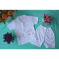 Baju Putih Bayi Setelan Anak Laki-Laki Jas Dasi Baptis Akikah Aqiqah - S