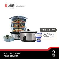 Bundling Russell Hobbs Slow Cooker 6L - Russell Hobbs Food Steamer