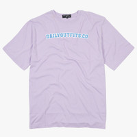 Dailyoutfits T-Shirt Font Lilac