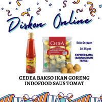 DISKON ONLINE CEDEA BAKSO IKAN GORENG SINGAPORE 500 GR SAUS INDOFOOD