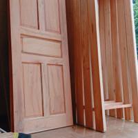 set pintu kayu plus kusen