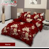 bed cover lady rose sprei karet no2 uk 160x200 motif Vania