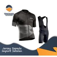 Jersey Sepeda Import NORTHWAVE NW NW4 Setelan BIB Kaos Celana Roadbike - S